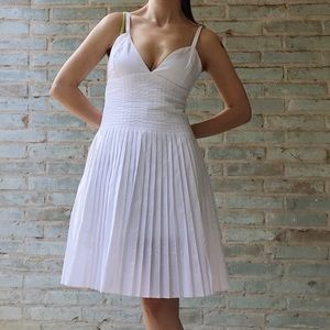 "Gaultier ""Marylin"" Dress White Pleated Glitter NWT"
